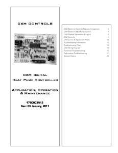 CXM CONTROLS. CXM Digital Heat Pump Controller. Application, Operation & Maintenance