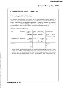 Cyanwasserstoff (HCN) und Cyanide (CN)