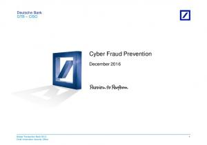 Cyber Fraud Prevention