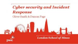 Cyber security and Incident Response