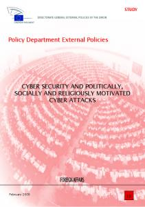CYBER SECURITY AND POLITICALLY, SOCIALLY AND RELIGIOUSLY MOTIVATED CYBER ATTACKS