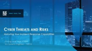 CYBER THREATS AND RISKS