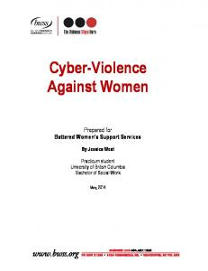 Cyber-Violence Against Women