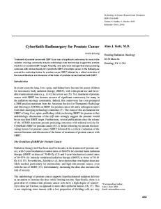 CyberKnife Radiosurgery for Prostate Cancer