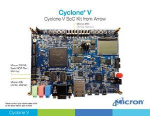 Cyclone. V Cyclone V SoC Kit from Arrow