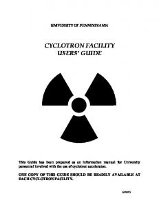 CYCLOTRON FACILITY USERS GUIDE