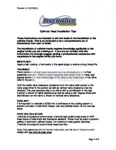 Cylinder Head Installation Tips