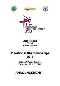 Czech Republic December 16 17, 2011 ANNOUNCEMENT