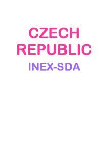 CZECH REPUBLIC INEX-SDA