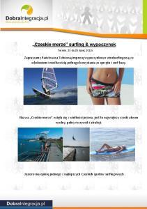 Czeskie morze surfing & wypoczynek