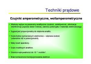 Czujniki amperometryczne, woltamperometryczne