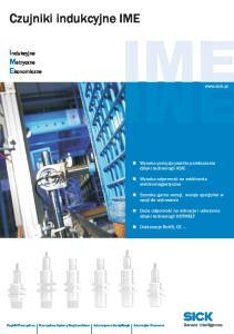 Czujniki indukcyjne IME