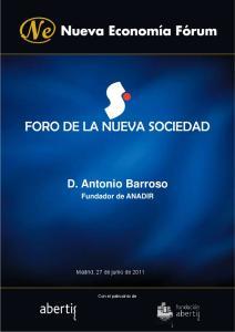 D. Antonio Barroso Fundador de ANADIR