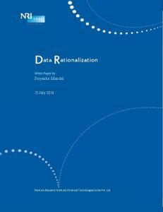 D ata R ationalization