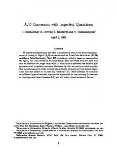 D Conversion with Imperfect Quantizers
