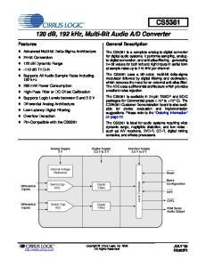 D Converter. Digital Supply 3.3 V to 5 V. Digital Filters. Digital Filters