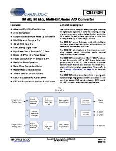 D Converter. VA 3.3 V to 5 V. Low-Latency Digital Filters. Low-Latency Digital Filters