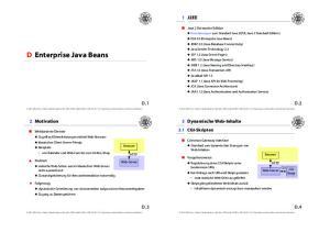 D Enterprise Java Beans