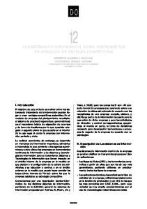 D-O LOS SISTEMAS DE INFORMACION COMO INSTRUMENTOS DE CREACION DE VENTAJAS COMPETITIVAS