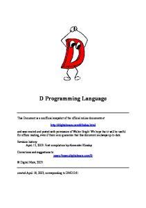 D Programming Language