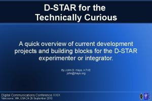 D-STAR for the Technically Curious