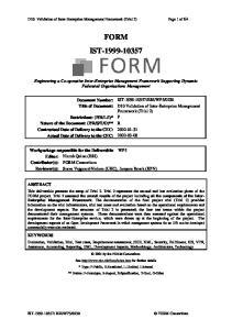 D10: Validation of Inter-Enterprise Management Framework (Trial 2) Page 1 of 64 FORM IST