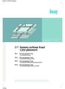 D11 Systemy sufitowe Knauf z p yt gipsowych