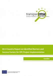 D2.4 Country Report on Identified Barriers and Success Factors for EPC Project Implementation
