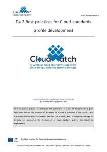 D4.2 Best practices for Cloud standards profile development