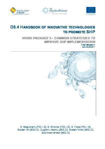 D5.4 HANDBOOK OF INNOVATIVE TECHNOLOGIES