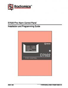 D7022 Fire Alarm Control Panel Installation and Programming Guide