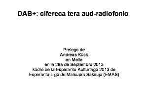 DAB+: cifereca tera aud-radiofonio
