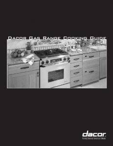 Dacor Gas Range Cooking Guide