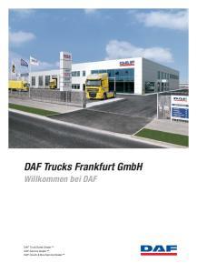 DAF Trucks Frankfurt GmbH Willkommen bei DAF