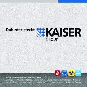 Dahinter steckt KAISER Elektroinstallations-Systeme