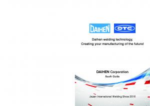 Daihen welding technology, Creating your manufacturing of the future!