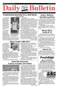 Daily Bulletin. Saturday, November 25, 2017 Volume 90, Number 2