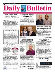 Daily Bulletin. Sunday, November 30, 2014 Volume 87, Number 3
