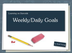 Daily Goals. Do you procrastinate?