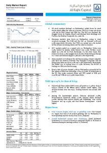 Daily Market Report Saudi Arabia Stock Exchange 12 May 2016