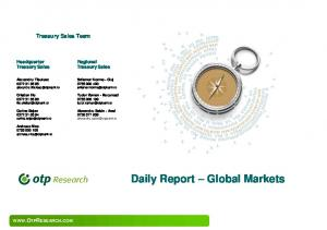 Daily Report Global Markets