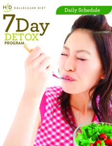 Daily Schedule DETOX PROGRAM