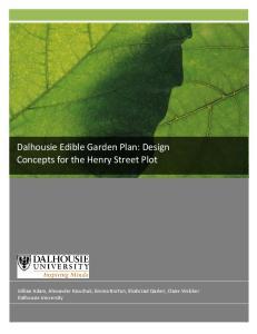 Dalhousie Edible Garden Plan: Design Concepts for the Henry Street Plot
