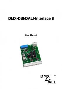 DALI-Interface 8. User Manual