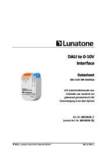DALI to 0-10V Interface