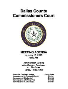 Dallas County Commissioners Court