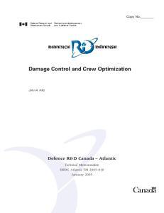 Damage Control and Crew Optimization