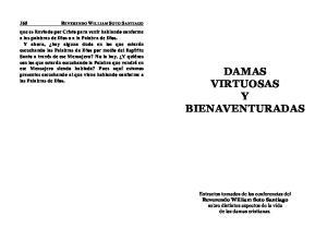 DAMAS VIRTUOSAS Y BIENAVENTURADAS