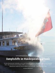 Dampfschiffe im Wanderparadies Schweiz