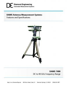 DAMS Antenna Measurement Systems Features and Specifications